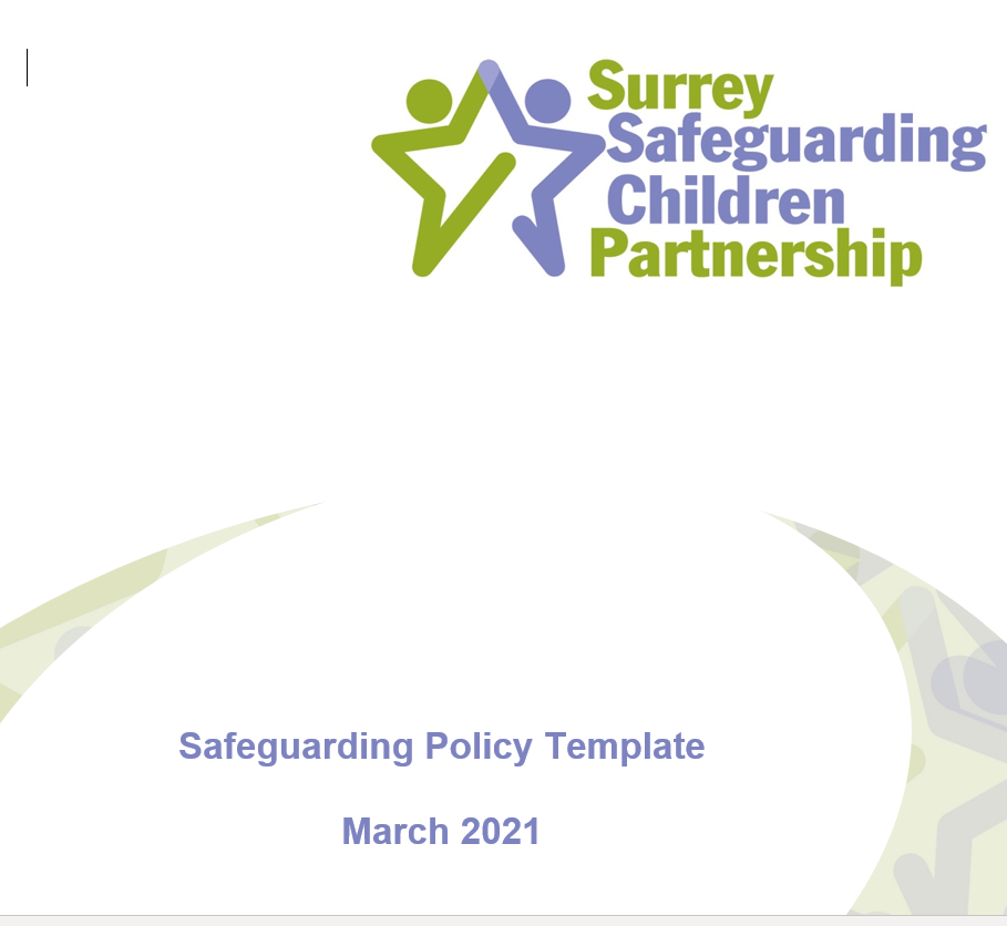 SSCP Safeguarding Policy Template