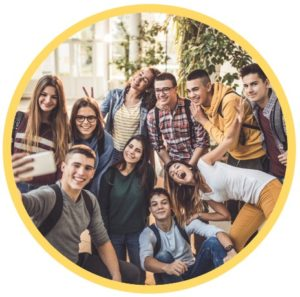 group-of-teenagers-taking-selfie